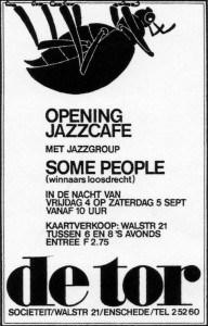 """De poster van het eerste """"officiele"""" jazzconcert in 1970"""